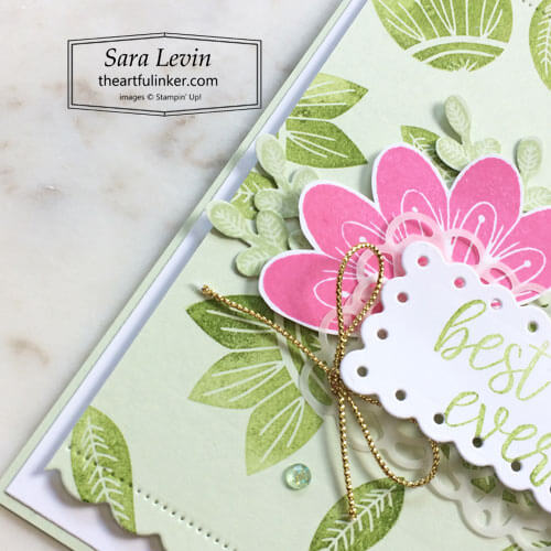 In Symmetry Best Day Ever card detail SHOP for Stampin Up with Sara Levin theartfulinker.com
