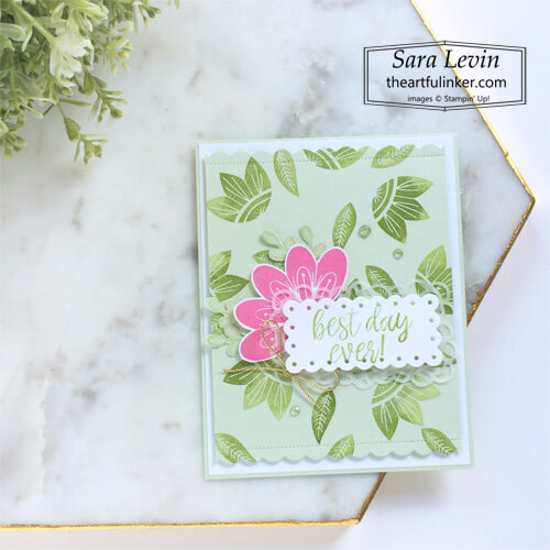 In Symmetry Best Day Ever card SHOP for Stampin Up with Sara Levin theartfulinker.com
