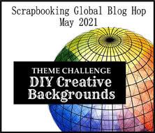 Scrapbooking Global May 2021 Blog Hop DIY Creative Backgrounds SHOP for Stampin Up with Sara Levin theartfulinker.com