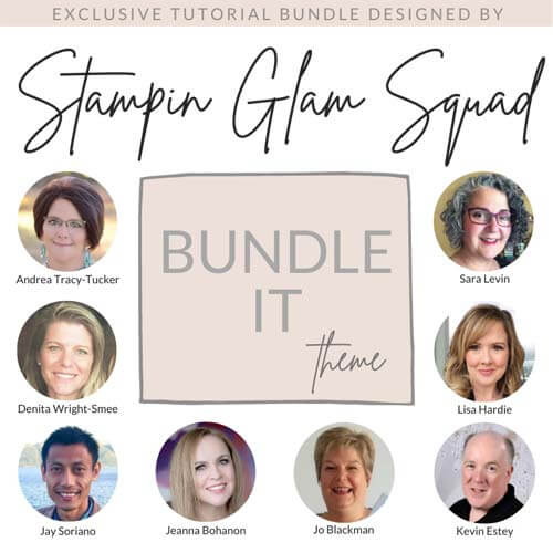 Stampin Glam Squad Bundle It Tutorial Bundle SHOP for Stampin Up with Sara Levin theartfulinker.com and get it FREE with a $50 product purchase