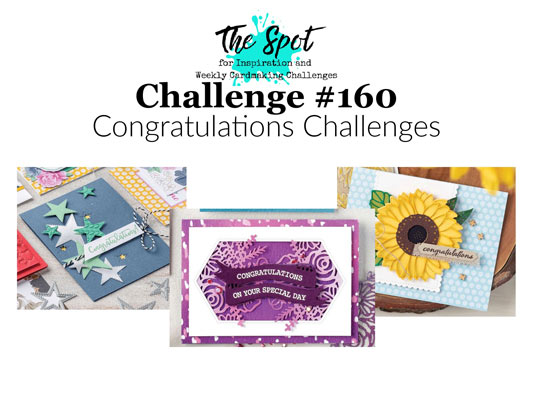 The Spot Creative Challenge 160 SHOP for Stampin Up with Sara Levin theartfulinker.com