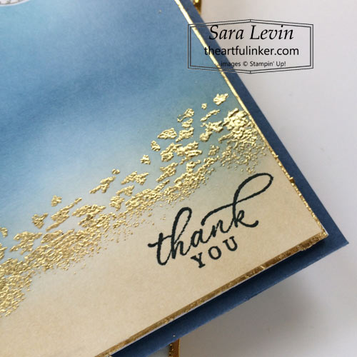 Timeless Tropical thank you card detail for Creation Station Blog Hop What Do You Sea SHOP for Stampin Up with Sara Levin theartfulinker.com