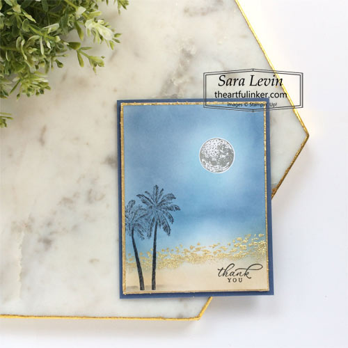 Timeless Tropical thank you card for Creation Station Blog Hop What Do You Sea  SHOP for Stampin Up with Sara Levin theartfulinker.com