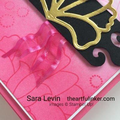 Batik Boutique ombre card detail for Stamping Sunday Blog Hop SHOP for Stampin Up with Sara Levin theartfulinker.com