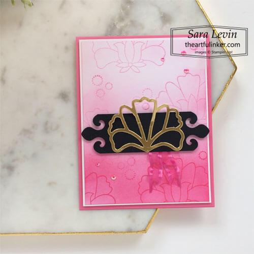 Batik Boutique ombre card for Stamping Sunday Blog Hop SHOP for Stampin Up with Sara Levin theartfulinker.com