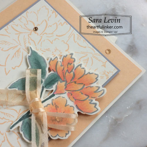 Hand Penned Petals Thank You card flower detail SHOP for Stampin Up with Sara Levin theartfulinker.com