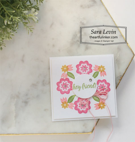 In Symmetry Wreath Card SHOP for Stampin Up with Sara Levin theartfulinker.com