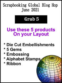 Scrapbook layout them Grab 5 SHOP for Stampin Up with Sara Levin theartfulinker.com