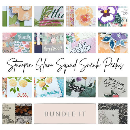 Stampin Glam Squad Bundle It June 2021 Tutorial Bundl FREE with $50 purchase SHOP Stampin Up with Sara Levin theartfulinker.com