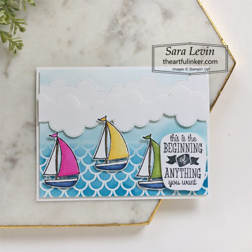 Sweet Farewell new beginnings card SHOP for Stampin Up with Sara Levin theartfulinker.com