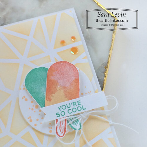 Sweet Ice Cream with Plenty of Patterns card detail SHOP for Stampin Up with Sara Levin theartfulinker.com
