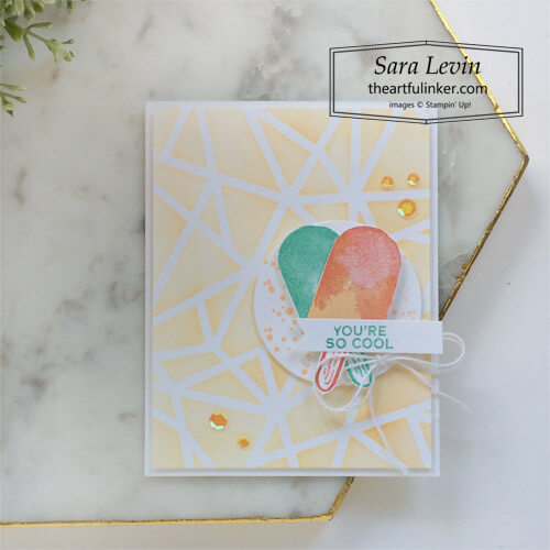 Sweet Ice Cream with Plenty of Patterns card SHOP for Stampin Up with Sara Levin theartfulinker.com