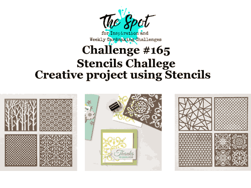 The Spot Creative Challenge 165 use stencils SHOP for Stampin Up with Sara Levin theartfulinker.com