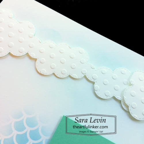 Timeless Tropical Beach scrapbook page embossed Basic Borders clouds for Scrapbooking Global SHOP for Stampin Up with Sara Levin theartfulinker.com