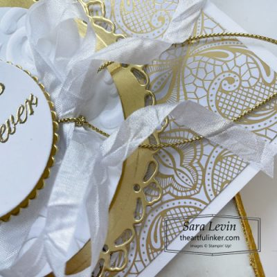Forever Blossoms wedding card bow detail SHOP for Stampin Up with Sara Levin theartfulinker.com