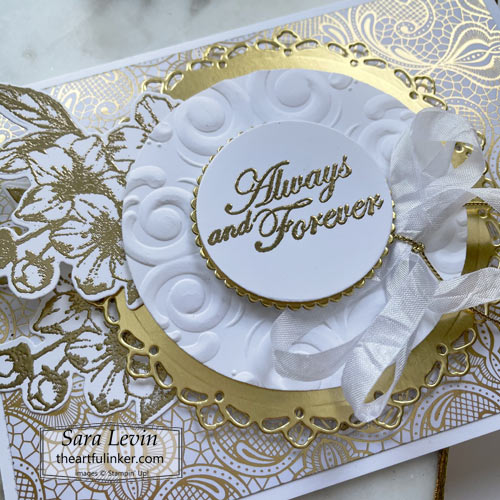 Forever Blossoms wedding card sentiment detail SHOP for Stampin Up with Sara Levin theartfulinker.com