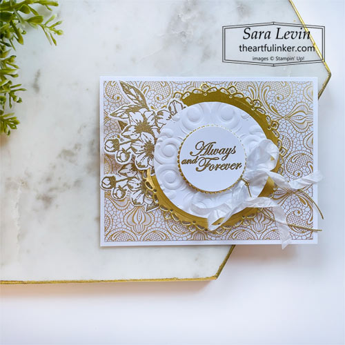 Forever Blossoms wedding card SHOP for Stampin Up with Sara Levin theartfulinker.com