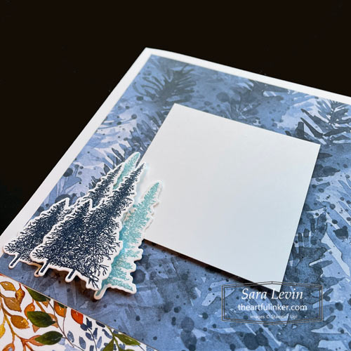 Four Seasons scrapbook page Winter with Mountain Air and Beauty of the Earth designer paper for Scrapbooking Global Blog Hop SHOP for Stampin Up with Sara Levin theartfulinker.com