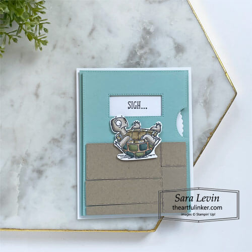 Give It a Whirl Back on Your Feet get well card for Stamping Sunday Blog Hop SHOP for Stampin Up with Sara Levin theartfulinker.com