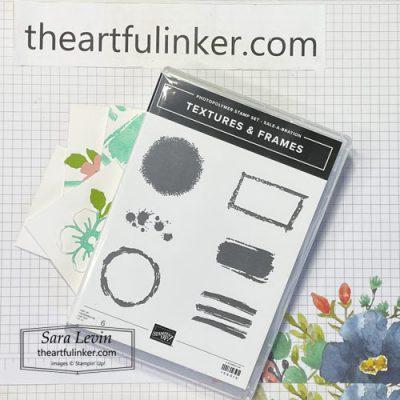 Textures and Frames stamp set with cards for Creation Station Blog Hop Saleabration SHOP for Stampin Up with Sara Levin theartfulinker.com