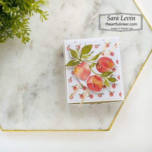 You're a Peach easy treat box SHOP for Stampin Up with Sara Levin theartfulinker.com