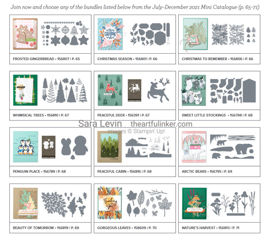Join my Stampin Up Team during Sale a Bration and Choose a FREE Bundle with Sara Levin theartfulinker.com