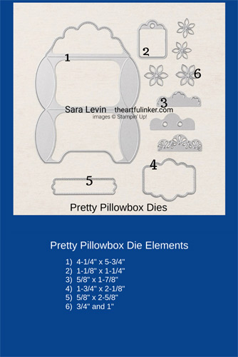 Pretty Pillowbox Dies Size Chart SHOP for Stampin Up with Sara Levin theartfulinker.com