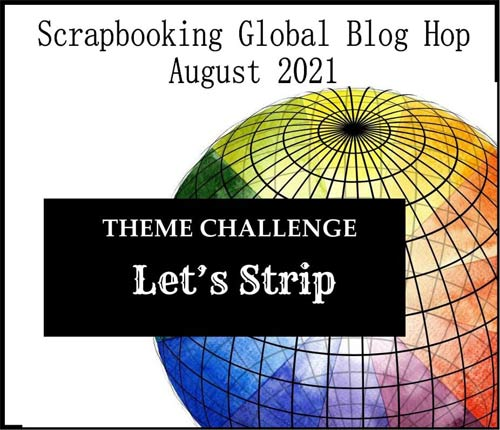 Scrapbooking Global Blog Hop strippy technique theme SHOP for Stampin Up with Sara Levin theartfulinker.com