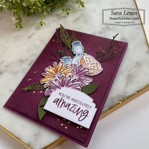 Color and Contour Fall card with Enjoy the Moment SHOP for Stampin Up with Sara Levin theartfulinker.com