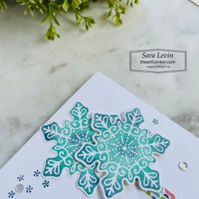 Frosted Gingerbread clean and simple Christmas card snowflake detail SHOP for Stampin Up with Sara Levin theartfulinker.com