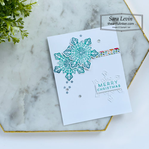 Frosted Gingerbread clean and simple Christmas card SHOP for Stampin Up with Sara Levin theartfulinker.com