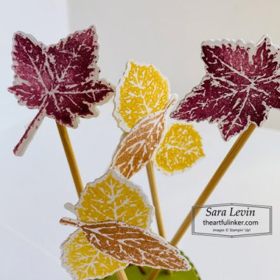 Gorgeous Leaves Oui Yogurt Jar Aromatherapy Essential Oils Diffuser reeds detail SHOP for Stampin Up with Sara Levin theartfulinker.com